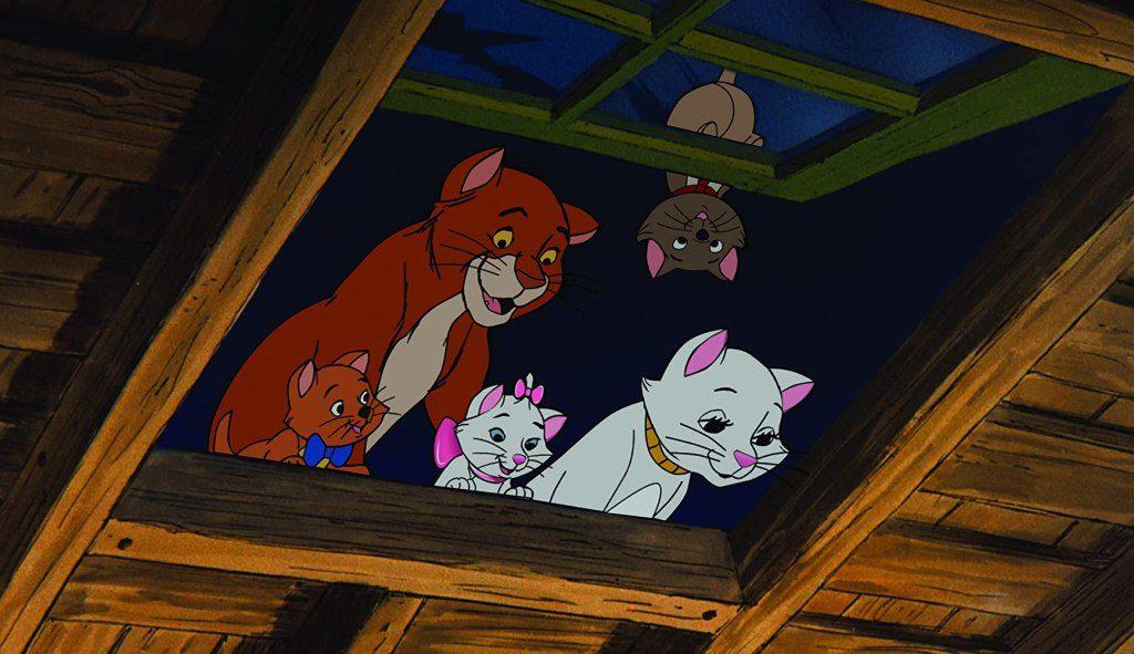 Der schönste Katzenfilm aller Filme mit Katzen: Szene aus dem Film Aristocats mit allen Katzen.