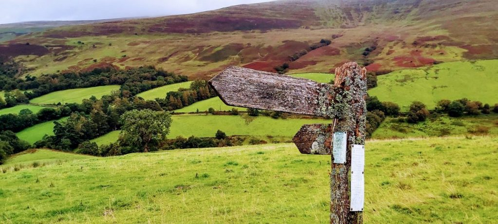 The Brecon Beacons in Wales is popular for a UK walking staycation