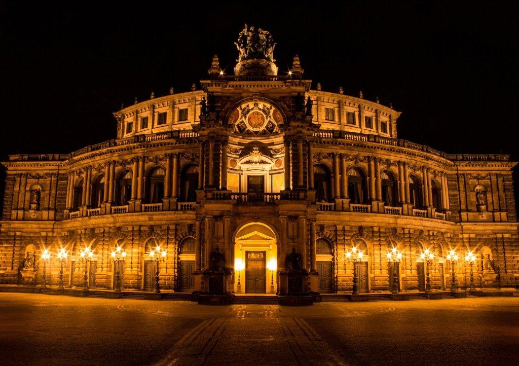 Die Semper Oper in Dresden.