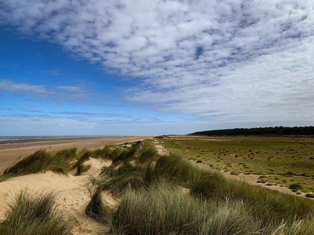Unspoilt stretches of sand at Holkham, Norfolk